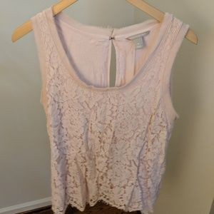 Banana Republic Pink Lacy Top/ Tank